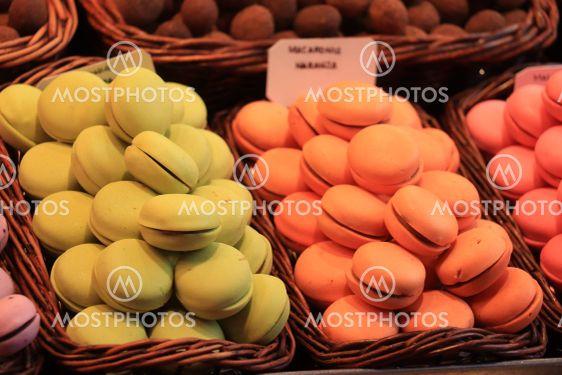 Macarons on display