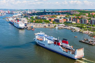 Ships in Gothenburg harbour.