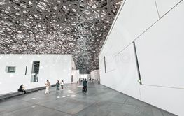 The Louvre museum Abu Dhabi with its extraordinary roof...