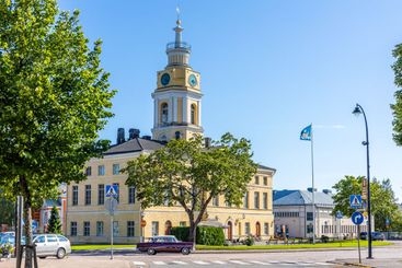HAMINA, FINLAND - The old Town Hall building