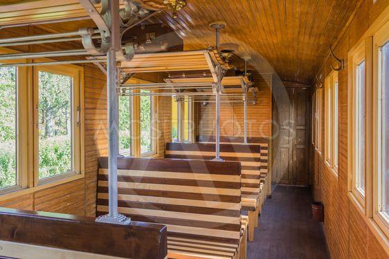 Wooden railroad wagon