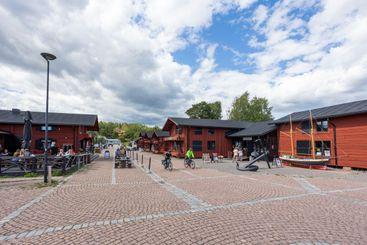 LOVIISA, FINLAND - Laivasilta tourist area in summer