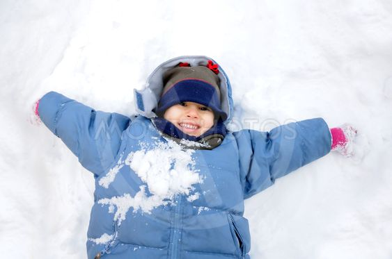 Great activity on snow, children and happiness