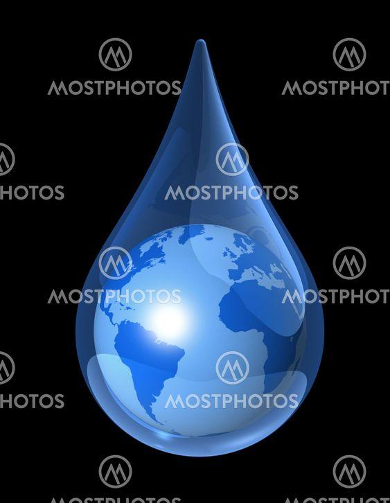 Laurent Davoust N Kuva Maapallon Veden Pudota Mostphotos