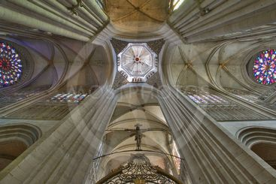 france; normandy;evreux : cathedral, inside, ceiling
