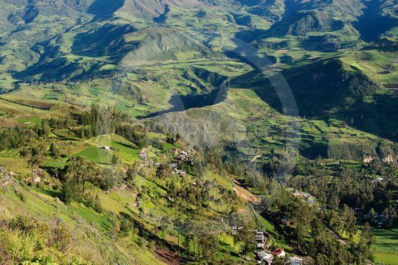 Scenic mountain landscape in Ecuador
