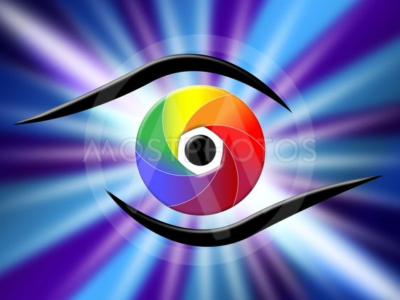 Eye Aperture Represents Color Guide And Chromatic