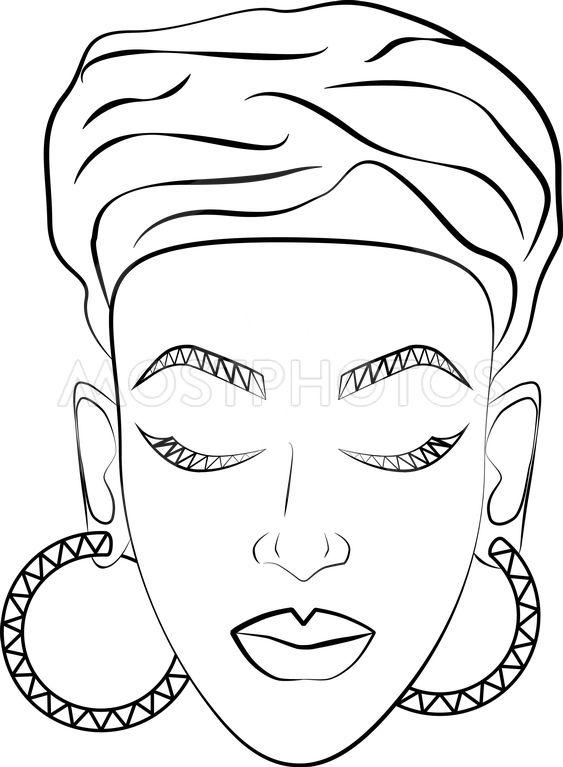 Woman Face African Woman I By Anna Shchetinina Mostphotos