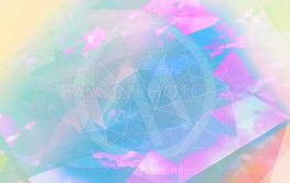 Bright abstract triangles blue background.