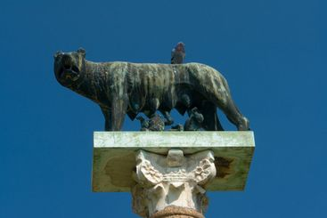 Capitoline lupine with Romulus and Remus at the Cathedral...