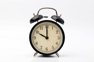 alarm clock shows ten o'clock
