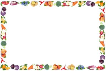 Fruits and vegetables frame copyspace isolated apple...