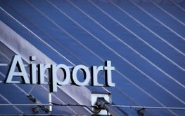 Airport sign on the roof - Silvertid