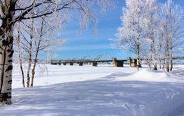 Bergnäsbon i sagolikt vinterlandskap