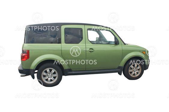 grøn SUV