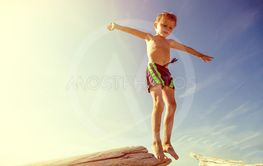 Happy Child jumping