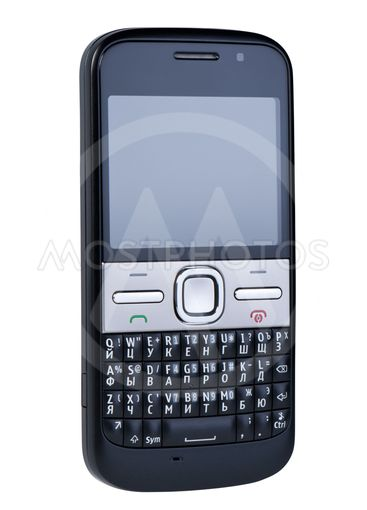 Mobile phone isolated on white background.