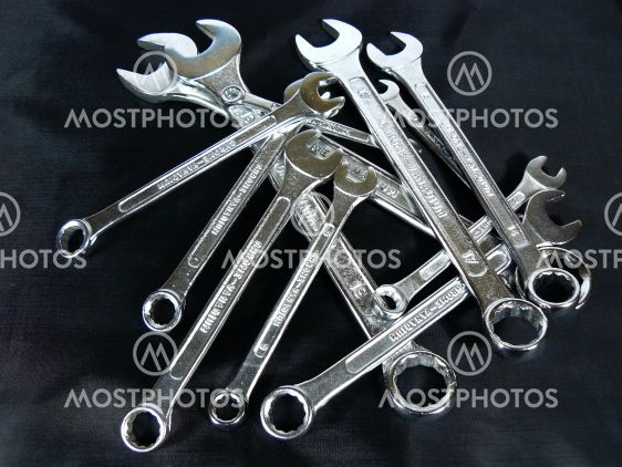 Wrenches of the different sizes