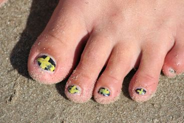 Toes on sand