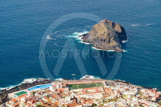 Aerial view of Garachico town, Tenerife