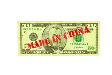fifty dollar bill made in china
