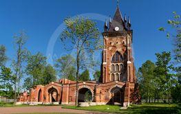 Pavilion Chapelle in Alexander Park in Tsarskoye Selo,...