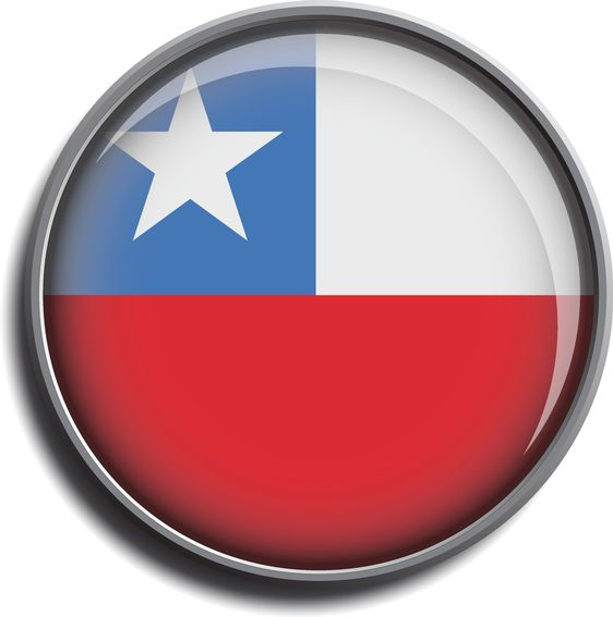 flag icon web button chile