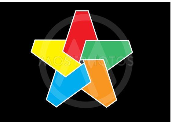 Vector illustration in graphic form of star pentagon.