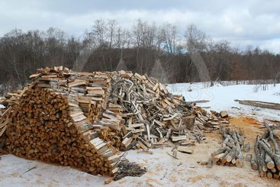 firewood, lumber, fuel, wooden, natural, bark, winter,...