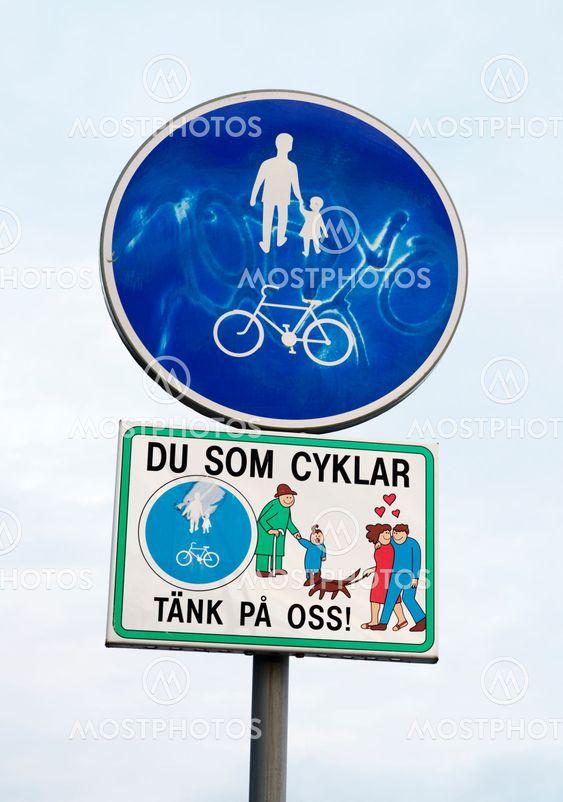 Du som cyklar tänk på oss