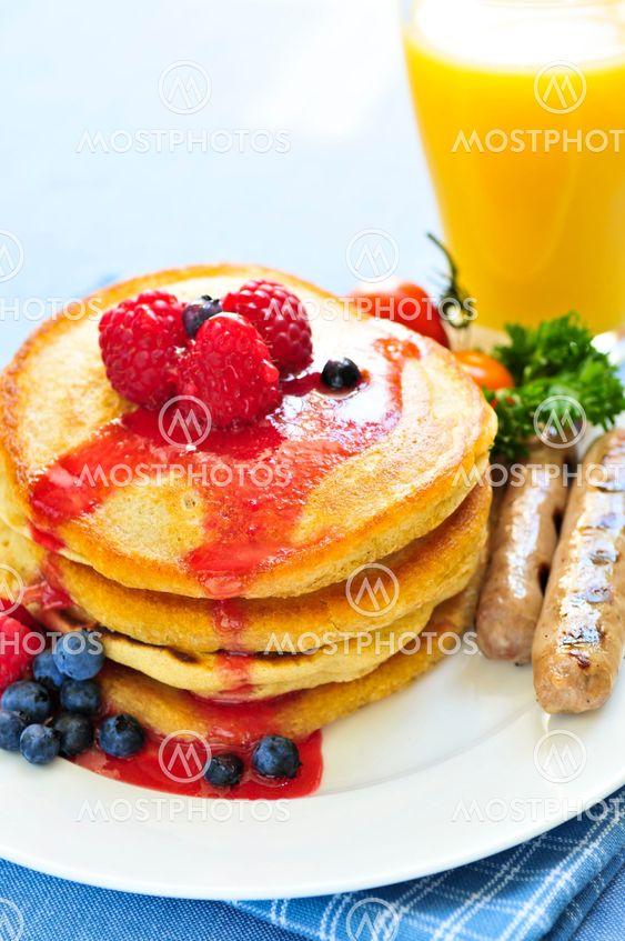 Pancakes Aamiainen