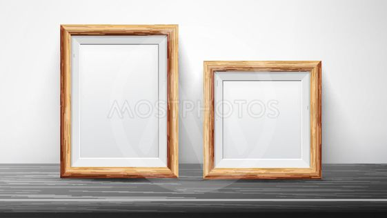 Realistic Black Frame Set Vector. Good For Posters,...