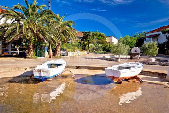 Ugljan coastal island village waterfront view