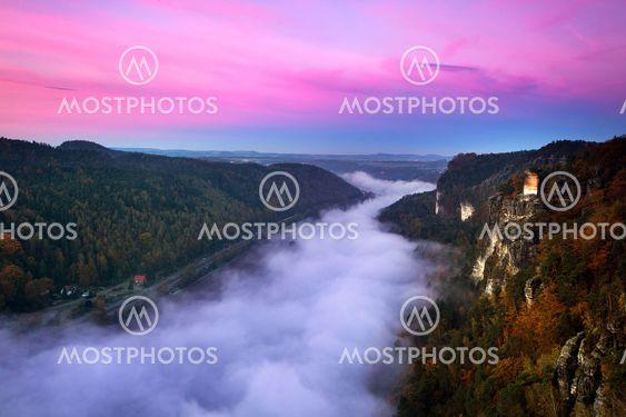 Germany, Saxonia, The Elbe Sandstone Mountains, Bastei...