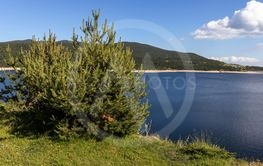 Landscape with Belmeken Dam, Rila mountain, Bulgaria