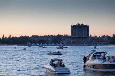 Boats on Lake CDA