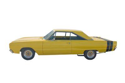 classic yellow hotrod