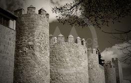 Towers of castle Avila