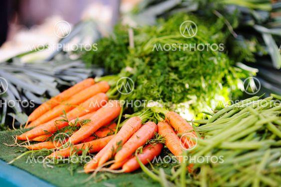 Fresh healthy bio carrots