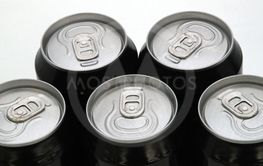 Tops of drink cans