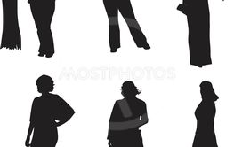 Set of woman silhouette