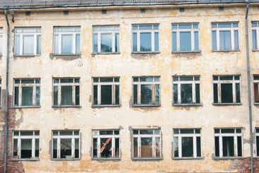 Decorative background - wall, windows. The photo shows...