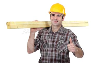 Carpenter giving thumbs-up