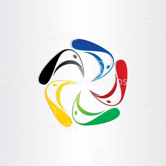 color birds in circle symbol