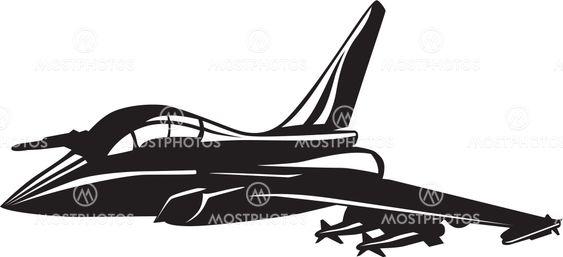 Vector illustration of a jet fighter
