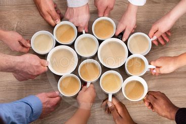 Group Of People Holding Coffee Cups