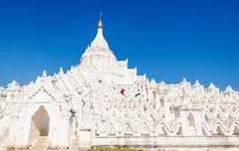 White pagoda in Mingun Myanmar