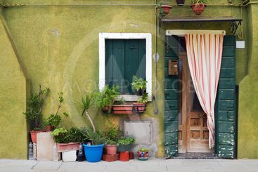 Typical Burano house.