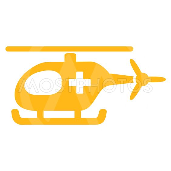 Emergency Helicopter Icon