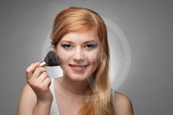 Girl does a make-up